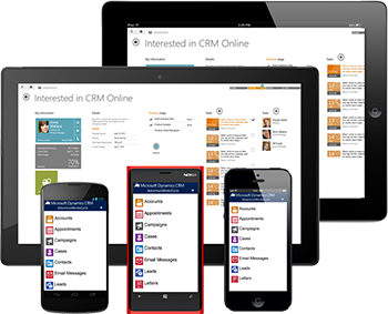 Access Microsoft CRM on mobile devices